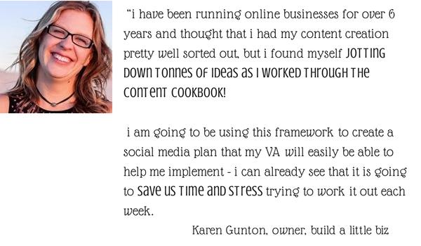 content cookbook testimonial karen gunton