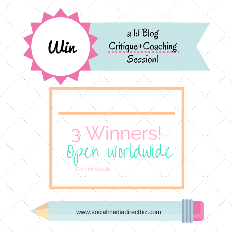 enter to win a 1:1 coaching session