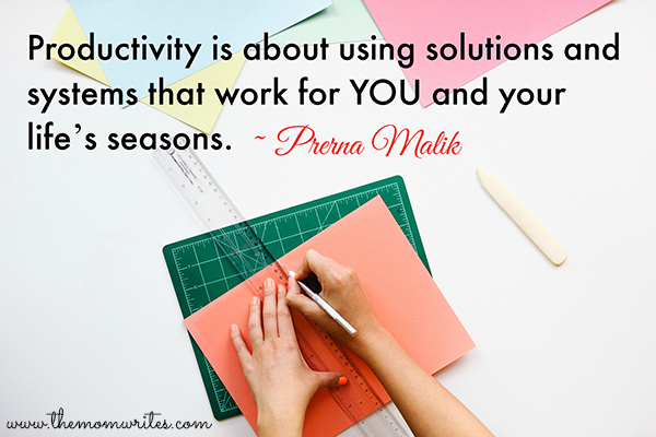 Productivity is about using