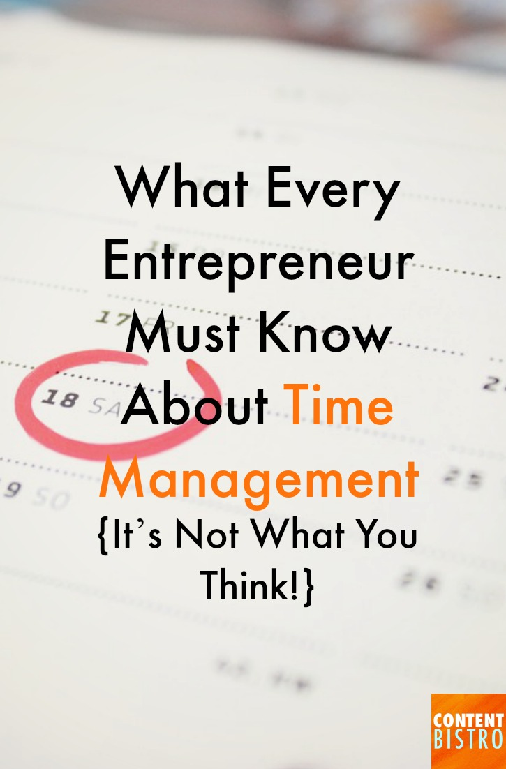 what every entrepreneur must know about time management