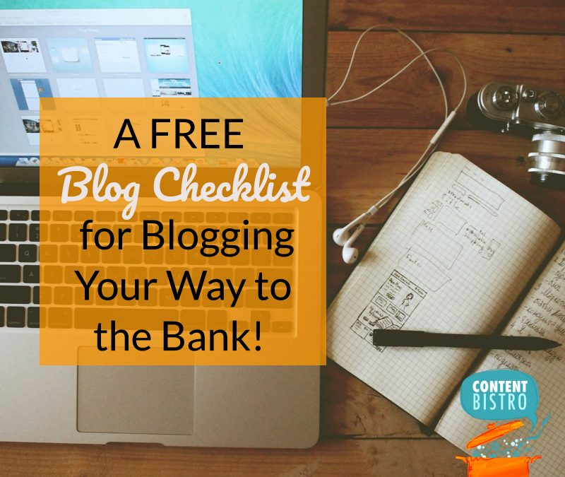 How to Make Launches Laugh Their Way to the Bank with a FREE Blog Checklist