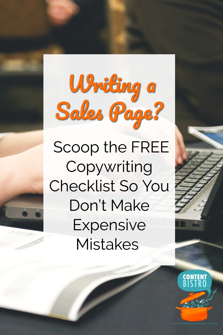 The More Money, Less Mistakes Sales Page Copywriting Checklist [Get it FREE!]