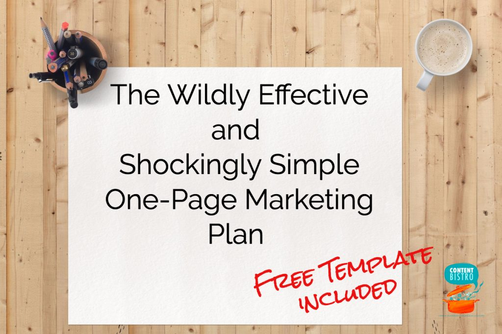 The Wildly Effective and Shockingly Simple One-Page Marketing Plan We Use {And Now YOU Can Too!}