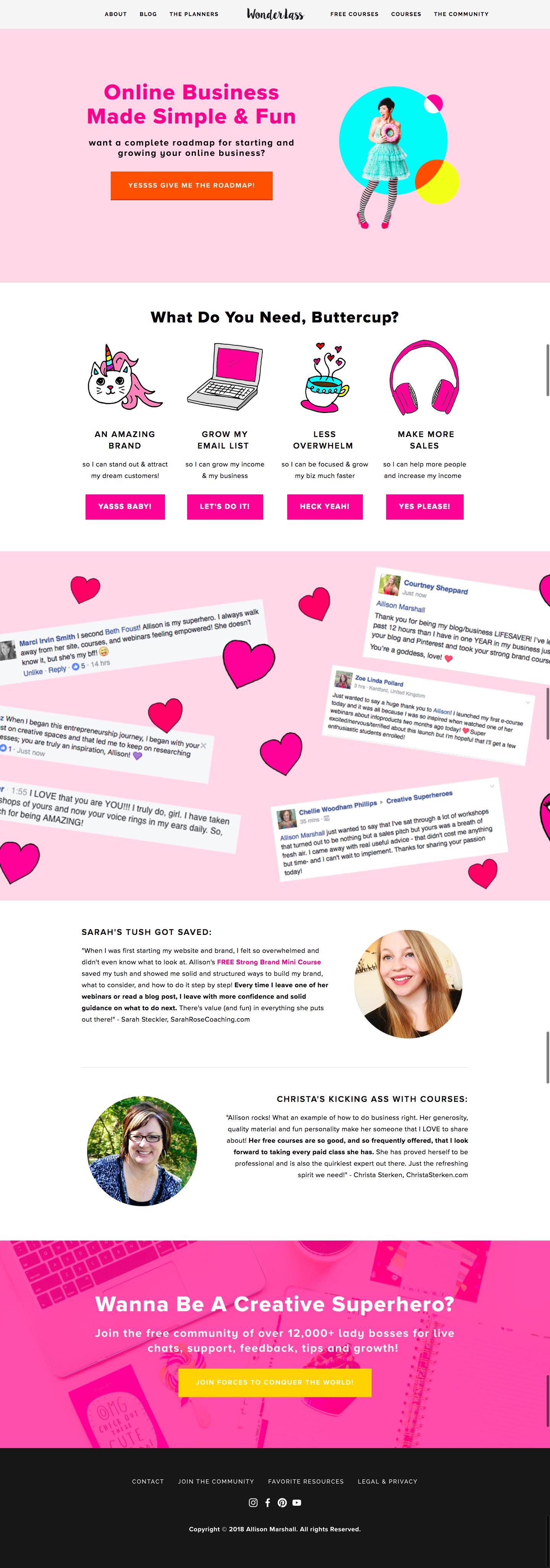 Wonderlass Start Here for Bloggers and Creative Entrepreneurs